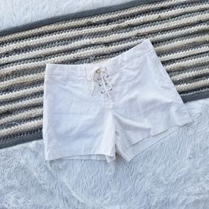 J. Crew Linen Blend Lace up Shorts